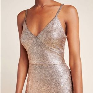 Anthropologie NWT Rose Gold Gown